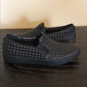 Michael Kors Black slip-on stud sneakers